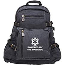 Powered By The Darkside Galatic Empire Star Wars Canvas Backpack Bag