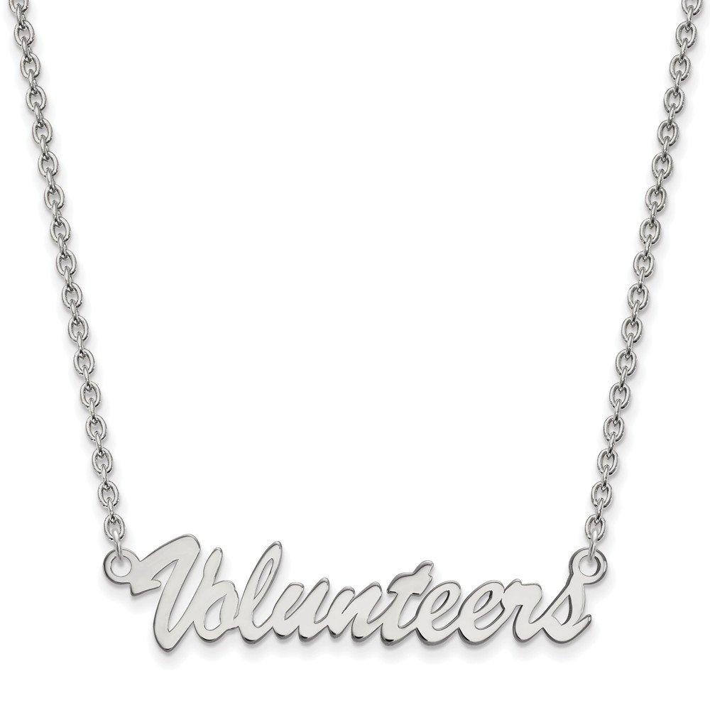 Mia Diamonds 925 Sterling Silver LogoArt University of Tenne925 Sterling Silveree Medium Pendant with Necklace