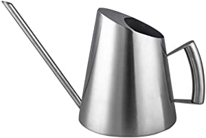 IMEEA Watering Can for Indoor House Plants Long Spout Brushed Stainless Steel Watering Pot, 50oz/1.5L