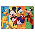 Gertmenian & Sons Disney Mickey Mouse Club House Patchwork Digital Printed Jumbo Size Kid'S Bedding Area Rug by Gertmenian & Sons