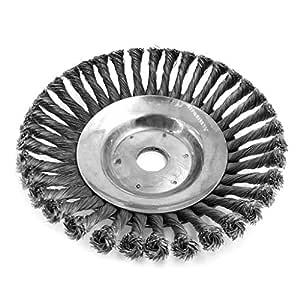 Brucelin - Cepillo de desherbado para jardín, rueda de alambre de ...