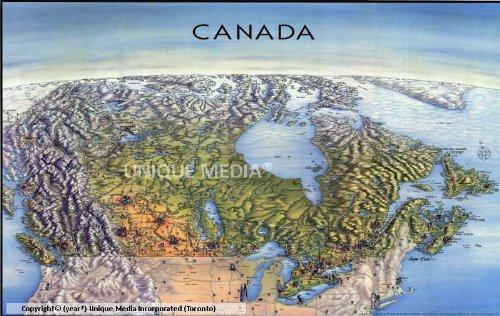 Unique Media Map: Canada With Ottawa/Folded