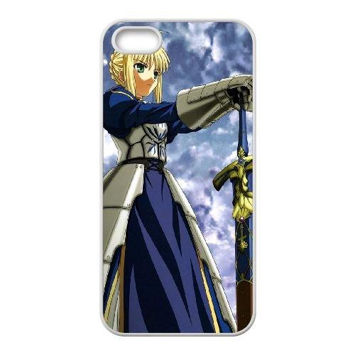 Fate Stay Night 014 coque iPhone 5 5S Housse Blanc téléphone portable couverture de cas coque EOKXLLNCD12884