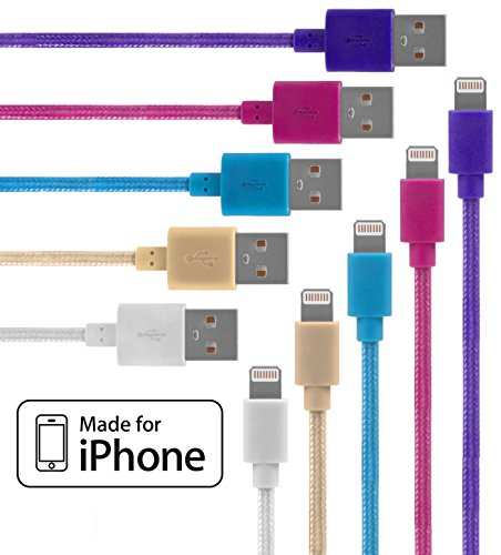 lightning-cable-for-iphone-5-pack-braided-33-feet-in-white-beige-blue-pink-and-purple-cable-w-lightn