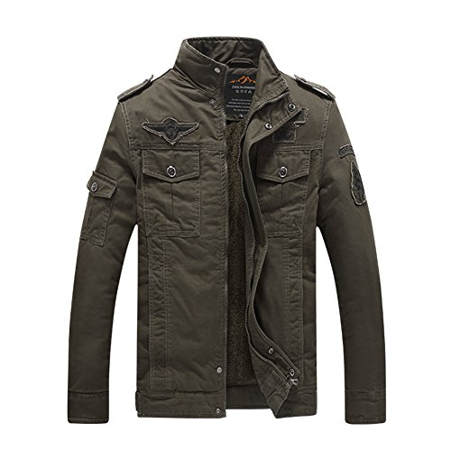 20mm Football Knob (H.T.Niao Jacket8333C1 Men 's Military Fashion Plus Velvet Cold Jackets(Army Green,Size XXL))