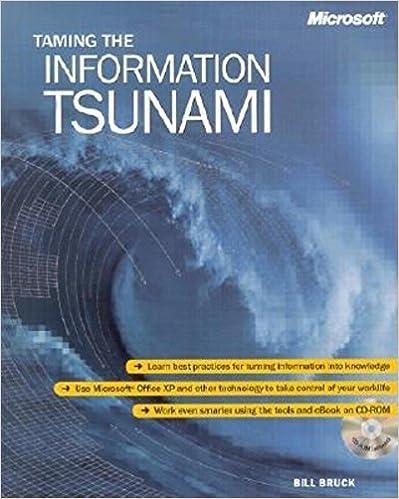 Téléchargez des livres sur ordinateur gratuitement Taming the Information Tsunami by Bruck Ph.D., Bill (2002) Paperback in French CHM B011YTFQ6S