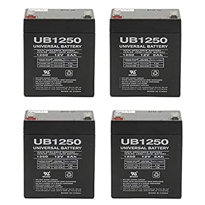 Universal Power Group 12V 5Ah Ultratech UT1240 Alarm Back Up Honeywell GE DSC Replacement Battery - 4 Pack : General Use Batteries : Sports & Outdoors