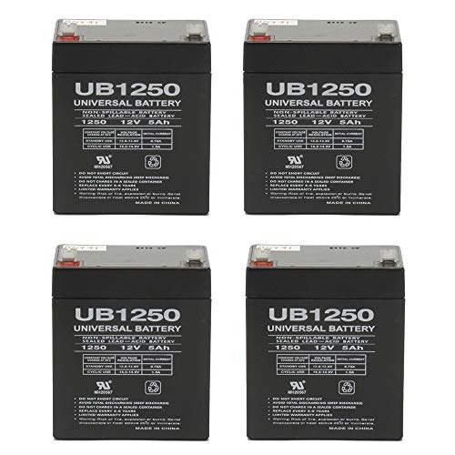 Universal Power Group 12V 5AH Battery Razor E100 Electric Scooter Gas Pocket Bike X1 X2 49cc - 4 Pack