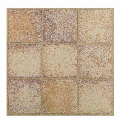 MAX CO LTD Sandstone Peel & Stick Vinyl Floor Tile, 12 x 12-In. B01M0JJ53F