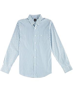 Mens Long Sleeve Vertical Stripe Shirt