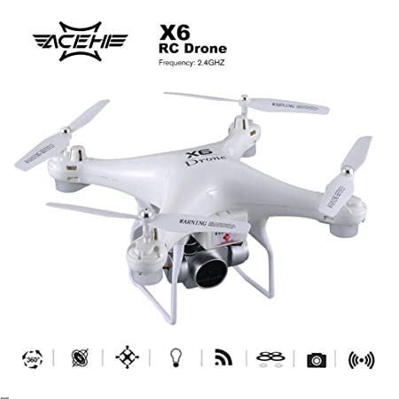 X6 RC FPV Drone 2MP 720P WiFi HD Cámara UV Pintura/Módulo Batería ...