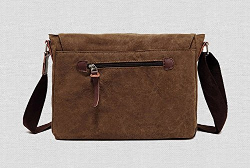 Bag Retro Messenger Satchel Leisure Coffee Shoulder Male Canvas Otomoll qvwEO4a