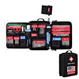 CS Force First Aid Kit, 96pcs Molle Medical Pouch Waterproof Emergency Bag for Home, Outdoors, Car, Camping, Workplace, Hiking & Survival (FDA Approved)