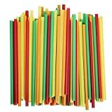 : Assorted Colors Smoothie Straws, Pack of 100 Pieces