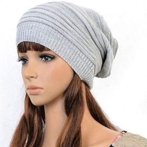 adf4314dd49 wintefei Unisex Winter Marbled Warm Baggy Beanie Knit Crochet Oversized Hat  Slouch Cap - Coffee at Amazon Women s Clothing store