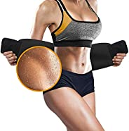Perfotek Waist Trimmer Belt, Slimmer Kit, Weight Loss Wrap, Stomach Fat Burner, Low Back and Lumbar Support wi