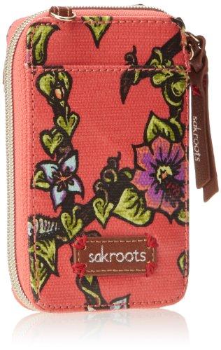 Sakroots Artist Circle Smartphone Wristlet,Papaya True Love,One Size
