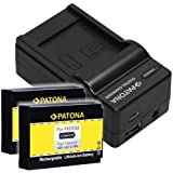 Bundlestar Ladegerät 4 in 1 + 2x PATONA Akku für Drift CFXDC02 FXDC02 -- NEUHEIT mit Micro USB Anschluss -- passend zu Ghost Drift HD -- Ghost Drift S