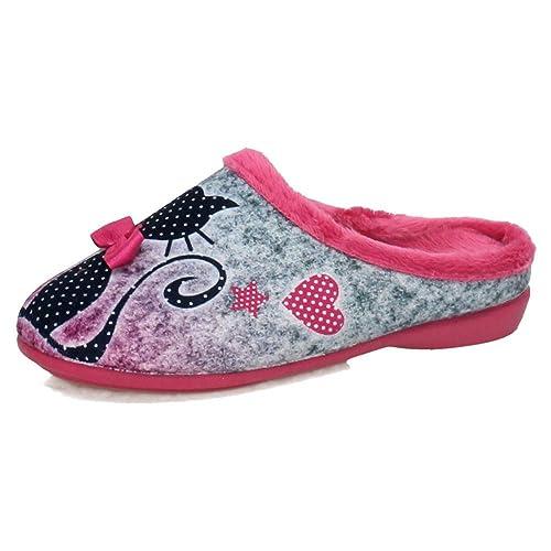 VULCA-BICHA 1290 Chinelas Gatitos NIÑA Zapatillas CASA: Amazon.es: Zapatos y complementos