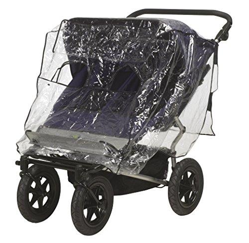 Playshoes 448942 Regenverdeck, Regenschutz, Regenhaube für Zwillingsbuggy / Tandemwagen mit Kontaktfenster