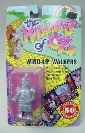 (Rare Wizard of Oz 1988 Wind up Walkers- The Tin Man )