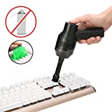MECO Keyboard Cleaner with Cleaning Gel, Rechargeable Mini Vacuum Cordless Vacuum Desk Vacuum Cleaner, Best Cleaner for Cleaning Dust,Hairs,Crumbs,Scraps for Laptop,Piano,Computer,Car and Pet House