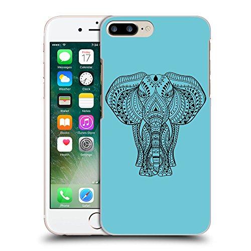 GoGoMobile Coque de Protection TPU Silicone Case pour // Q08170627 Éléphant indien 1 Cyan // Apple iPhone 7 PLUS