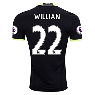 Adidas Willian #22 Official Chelsea 2016/17 Away W Patches (Small)