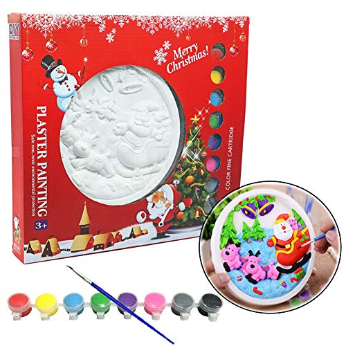 Craft Painting Kit,Painting Your Own Christmas Plaster figurines Craft Kit for Boys and ()
