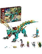 LEGO 71746 NINJAGO djungeldrake byggsats, med ninja Lloyd och Zane minifigurer, drake leksak från 8 år för pojkar och flickor