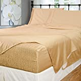 Bed Tite Stretch Fit 500-Thread Count Cotton Rich Super Silky Deep Pocket Sheet Set (Queen, Fawn)