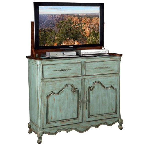 TV Lift Cabinet for 32-46 inch Flat Screens (Weathered Blue) AT006332-BLU by TVLIFTCABINET, Inc