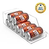 Elktry Transparent fridge&freezer drawer organizers, Freezer Storage Organizer Bins, Stackable Pantry Storage for Kitchen, Water and soup Bottle Holder