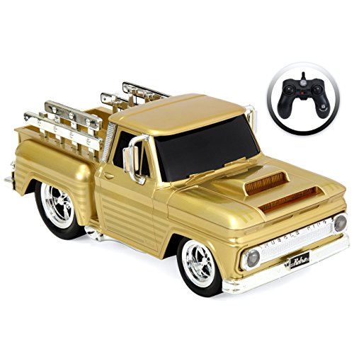 Best Choice Products Remote Control Muscle Pickup Truck (Gold)