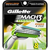 Gillette Mach3 Sensitive Power Cartridges, 8 Count (Packaging May Vary)