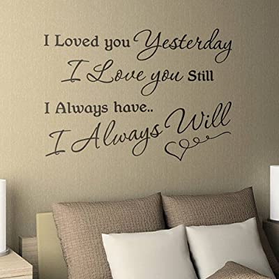 Dailinming PVC Wall Stickers [Stay With You] Love quote vinyl wall decal decorative sticker 61X33CM