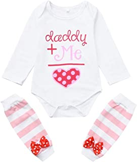 Jimmackey Neonata San Valentino Pagliaccetto Lettera Stampa Tutine Body + Pantacollant Bebè Completo