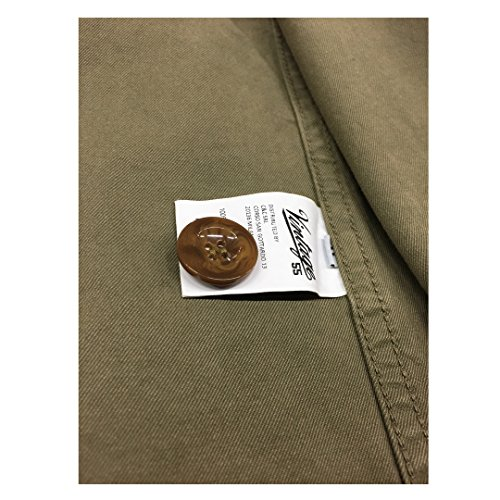 100 Jacket Giacca Franch 55 Italy Verde Made Vintage Work Uomo Cotone In ZA0qYB