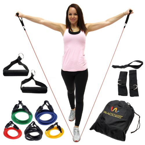 wacces-set-of-5-new-premium-latex-resistance-bands-tubes-cords-w-free-door-anchor-and-exercise-manua