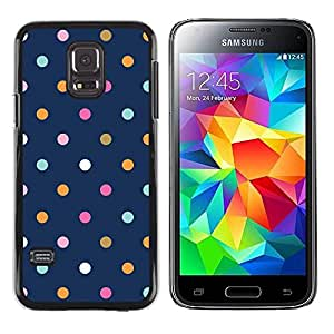 Plastic Shell Protective Case Cover || Samsung Galaxy S5 Mini, SM-G800, NOT S5 REGULAR! || Dot Blue Vibrant Pink Teal Navy @XPTECH