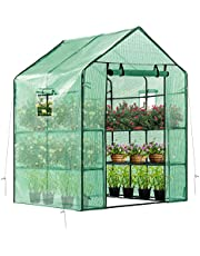 VIVOSUN 57x57x77-Inch Green House for Outdoors with Observation Windows
