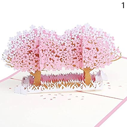 Star Five Store 3d Pop Up Flowers Greeting Card Christmas Birthday