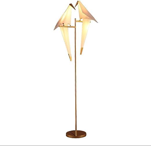 MILUCE Lámparas de pie LED Dos Cabezas/Lámpara de pie Creativa pájaro pequeño/Arte de la Manera Lámpara de pie/Estudio / Lámpara Vertical Dormitorio (Interruptor de pie): Amazon.es: Hogar