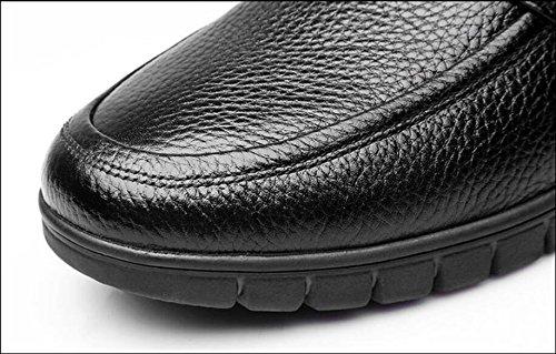 Loisirs Hommes Printemps Chaussures Respirant Black Chaussures Été Noir Cuir vvrwq7E6a