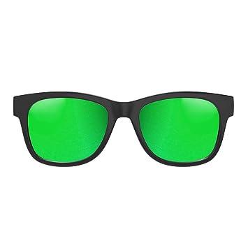 VocalSkull Gafas de Conducción Ósea Auriculares Deportivos Inalámbricos Bluetooth Reducción de Ruido Micrófono para Movil, Gafas de sol Polarizadas ...