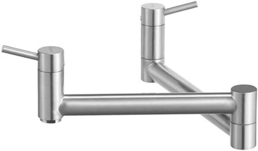 Blanco 441195 Cantata wall Mounted Pot Filler, Satin Nickel