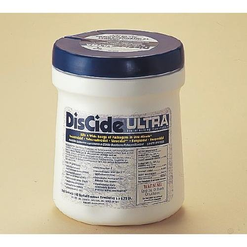 PALMERO HEALTH CARE 60DIS DisAseptic XRQ Spray, Discide Ultra Towelettes Pop-Up Canister, 6'' x 6.75'' Sheet x 160 (Pack of 12) by Palmero Health Care