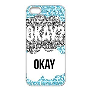 Creative design Okay letter Cell Phone Case for iPhone 5S