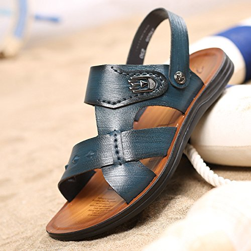 Sommer Das neue Männer Strand Schuh Atmungsaktiv Männer Sandalen Faser Männer Sandalen Freizeit Männer Schuh ,blau,US=7.5,UK=7,EU=40 2/3,CN=41