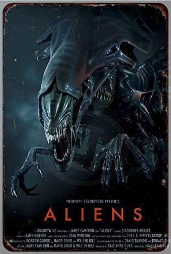 Aliens Movie Poster Vintage Reproduction Metal Sign 8 x 12 by Custom Kraze